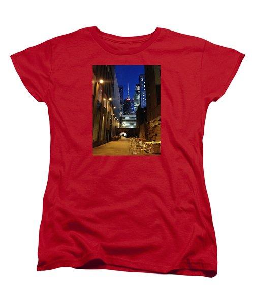 Women's T-Shirt (Standard Cut) featuring the photograph New York Night by Helen Haw