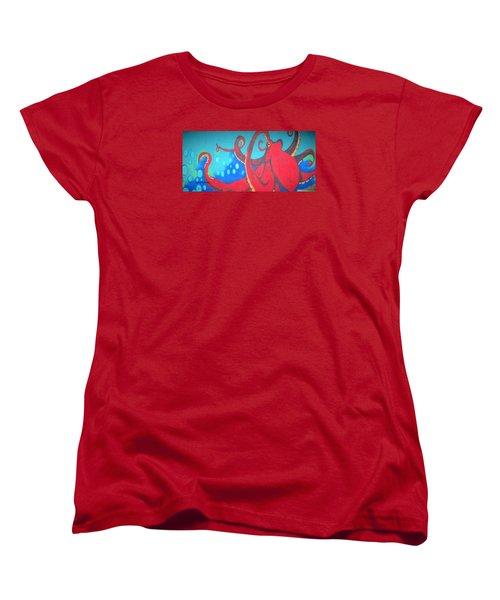 Octopus Women's T-Shirt (Standard Cut) by Martin Cline