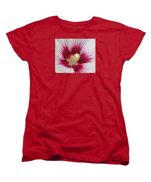 Open Wide Women's T-Shirt (Standard Cut) by Jeanette Oberholtzer