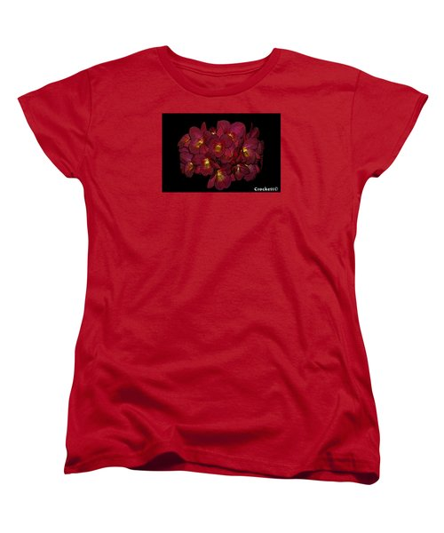 Orchid Floral Arrangement Women's T-Shirt (Standard Cut) by Gary Crockett