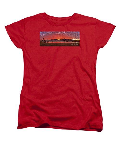 Women's T-Shirt (Standard Cut) featuring the photograph Panoramic Sunrise by Robert Bales