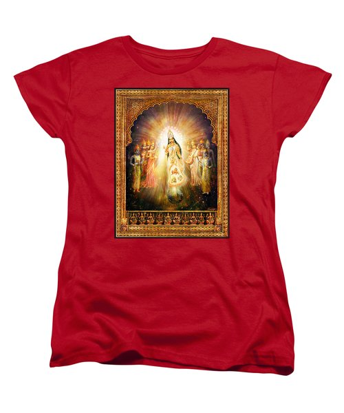 Parashakti Devi - The Great Goddess In Space Women's T-Shirt (Standard Cut) by Ananda Vdovic