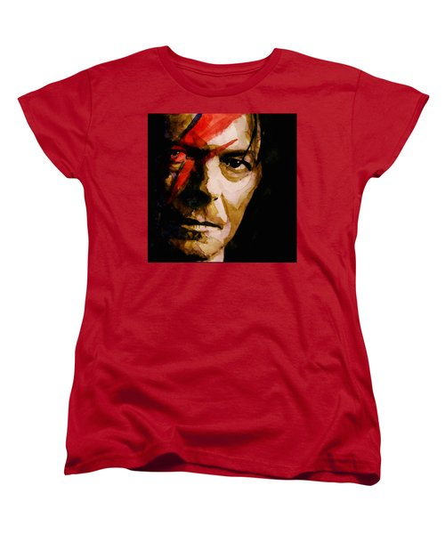Women's T-Shirt (Standard Cut) featuring the painting Past And Present  by Paul Lovering