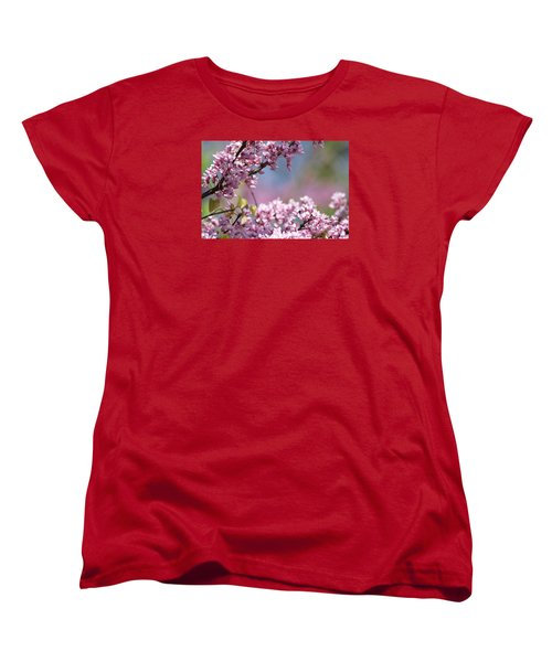 Pastel Blossoms Women's T-Shirt (Standard Cut) by Michele Wilson