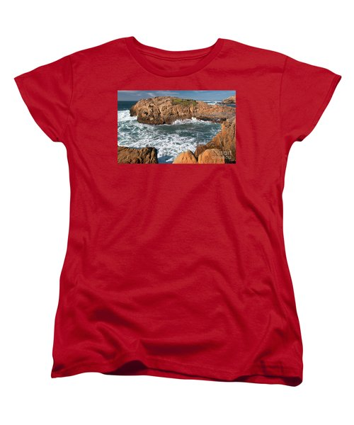 Point Lobos Women's T-Shirt (Standard Cut) by Glenn Franco Simmons