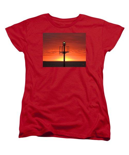 Women's T-Shirt (Standard Cut) featuring the photograph Port Hughes Lookout by Linda Hollis