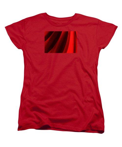 Red Chrysanthemum Dawn Rising Women's T-Shirt (Standard Cut) by John Williams