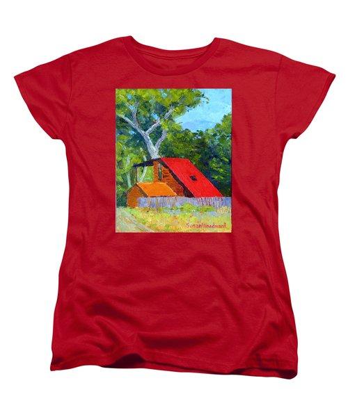 Red Roof Women's T-Shirt (Standard Cut) by Susan Woodward