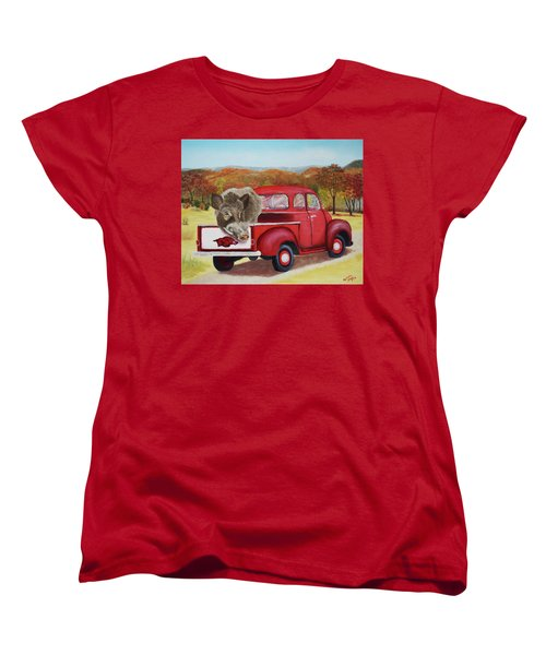 Ridin' With Razorbacks 2 Women's T-Shirt (Standard Cut) by Belinda Nagy