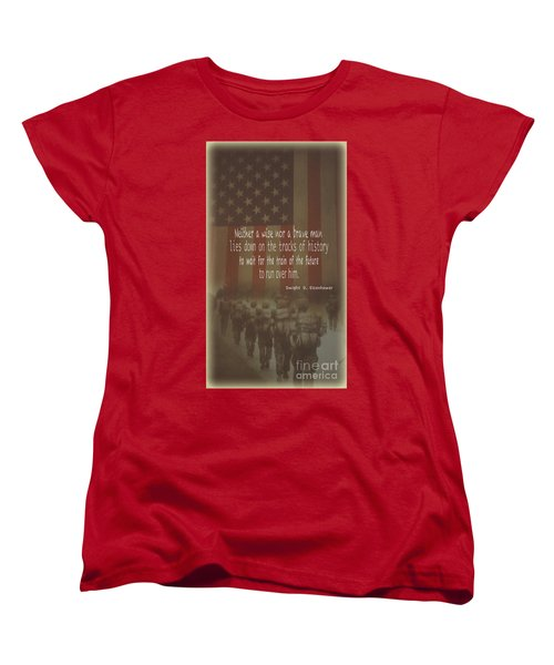 Women's T-Shirt (Standard Cut) featuring the photograph Serving Our Country by Debby Pueschel