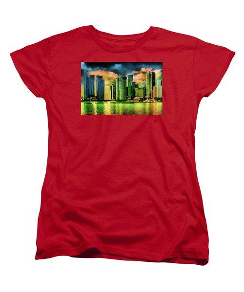 Singapore Skyline Women's T-Shirt (Standard Cut) by Joseph Hollingsworth