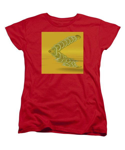 Women's T-Shirt (Standard Cut) featuring the photograph Slices Lemon Citrus Fruit by David French