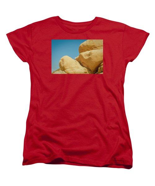 Stacked Boulders Joshua Tree Women's T-Shirt (Standard Cut) by Amyn Nasser