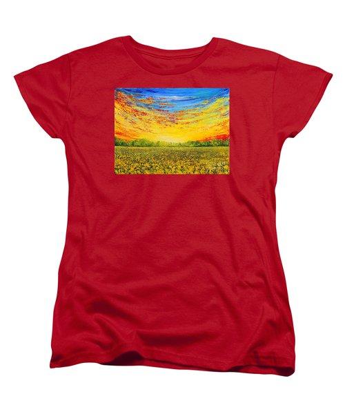 Summer Women's T-Shirt (Standard Cut) by Teresa Wegrzyn