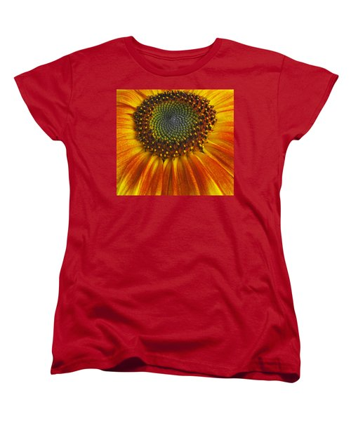 Sunflower Center Women's T-Shirt (Standard Cut) by Elvira Butler