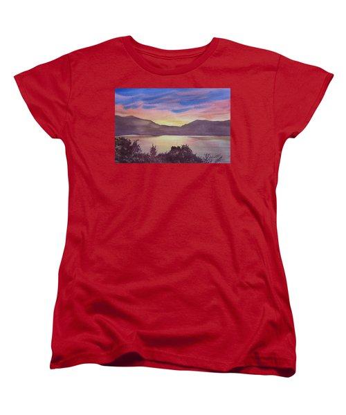 Sunset At Woodhead Campground Women's T-Shirt (Standard Cut) by Joel Deutsch