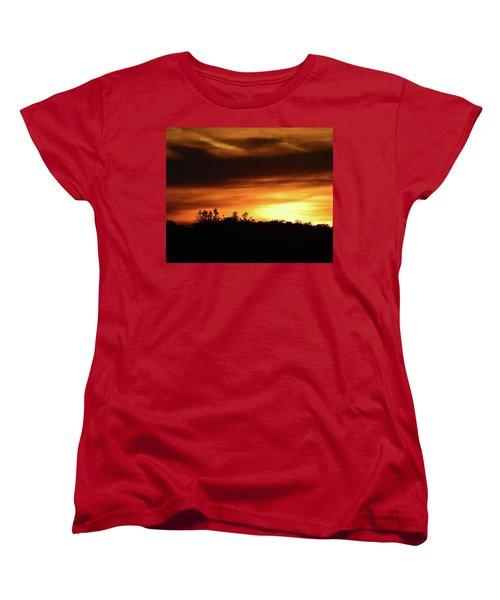 Sunset Behind The Clouds  Women's T-Shirt (Standard Cut) by Lyle Crump