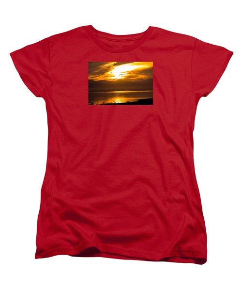 Sunset Women's T-Shirt (Standard Cut) by Hyuntae Kim