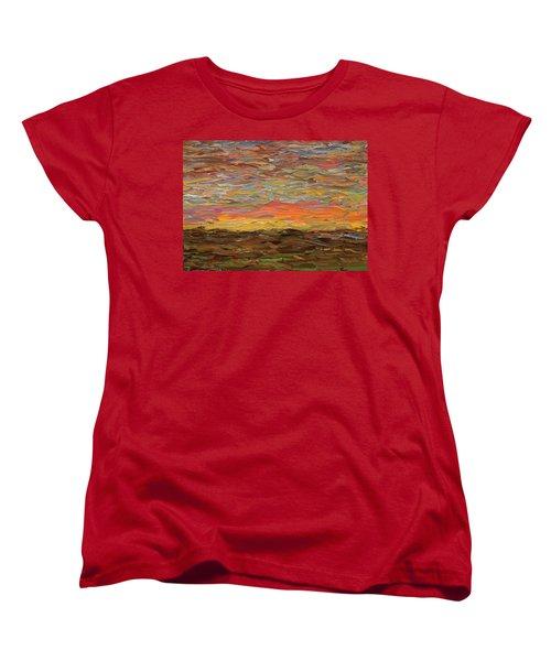 Sunset Women's T-Shirt (Standard Cut) by James W Johnson