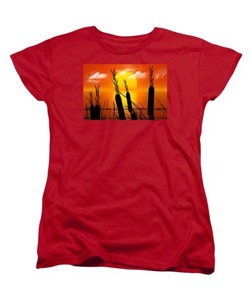 Sunset Lake Women's T-Shirt (Standard Cut) by Robert Orinski