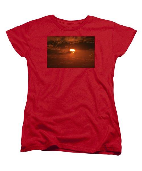 Sunset Women's T-Shirt (Standard Cut) by Linda Ferreira