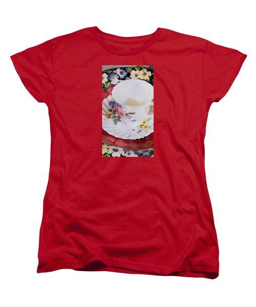 Tea Time Women's T-Shirt (Standard Cut) by Bonnie Bruno