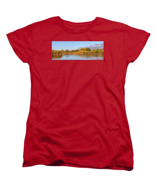 Women's T-Shirt (Standard Cut) featuring the photograph The Bosque by Gina Savage
