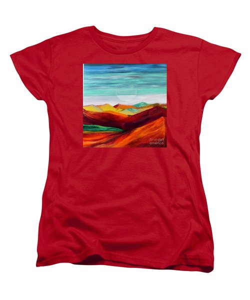 Women's T-Shirt (Standard Cut) featuring the painting The Hills Are Alive by Kim Nelson