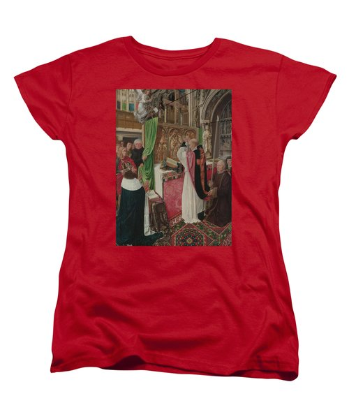 The Mass Of Saint Giles Women's T-Shirt (Standard Cut) by Master of Saint Giles