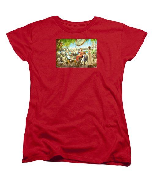 The Palace Garden Tea Party Women's T-Shirt (Standard Cut) by Reynold Jay