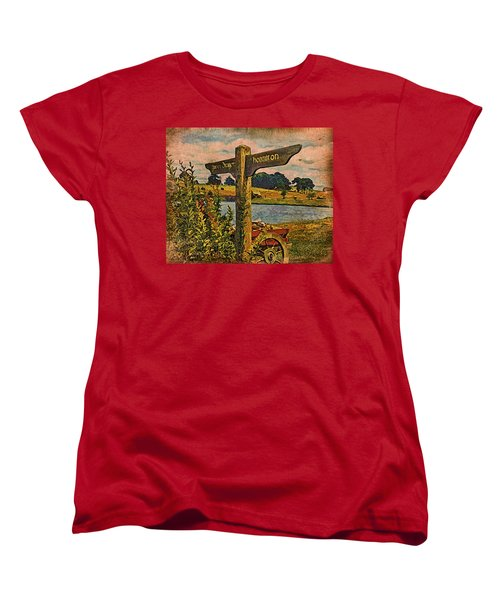 Women's T-Shirt (Standard Cut) featuring the digital art The Road To Hobbiton by Kathy Kelly