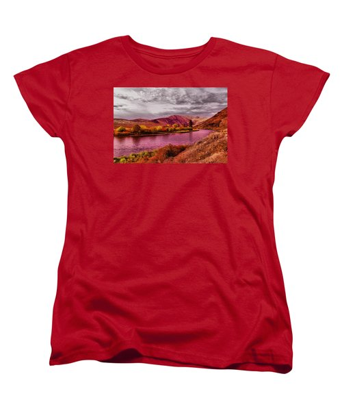 Women's T-Shirt (Standard Cut) featuring the photograph The Yakima River by Jeff Swan