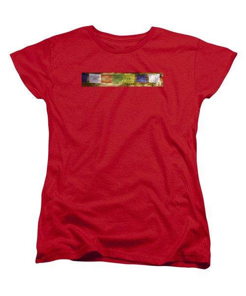 Tibetan Prayer Flags Women's T-Shirt (Standard Cut) by Peter v Quenter