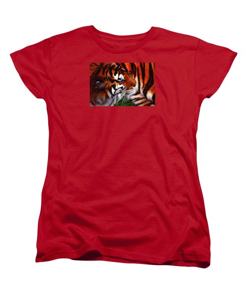Tiger Women's T-Shirt (Standard Cut) by Andre Faubert