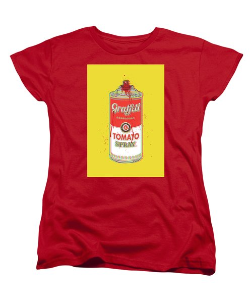Tomato Spray Can Women's T-Shirt (Standard Cut) by Gary Grayson