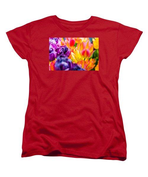 Women's T-Shirt (Standard Cut) featuring the photograph Tulips Enchanting 39 by Alexander Senin