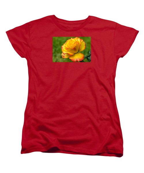 Two Toned Rose  Women's T-Shirt (Standard Cut) by Martina Fagan