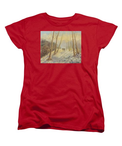 Walking In Sunshine Women's T-Shirt (Standard Cut) by Genevieve Brown