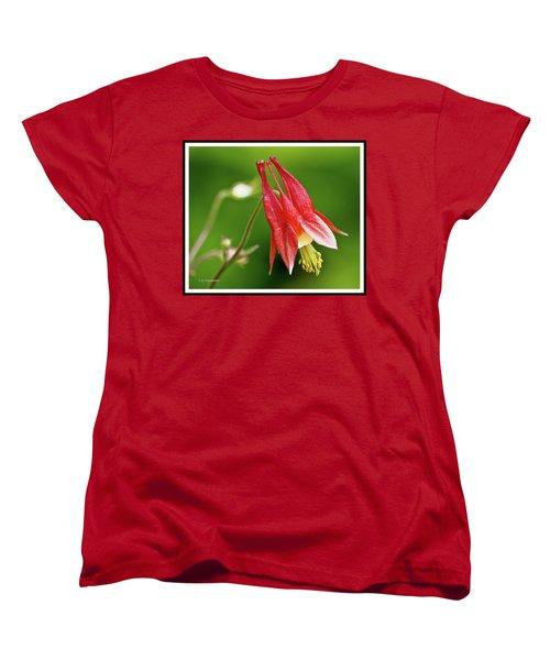 Wild Columbine Flower Women's T-Shirt (Standard Cut) by A Gurmankin