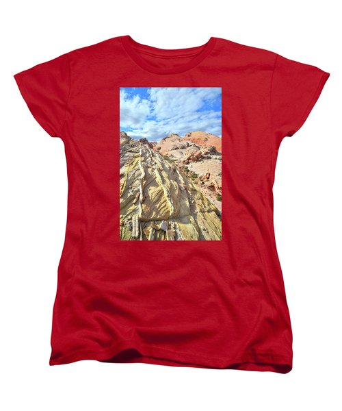 Yellow Brick Road In Valley Of Fire Women's T-Shirt (Standard Cut) by Ray Mathis
