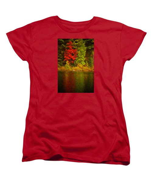 Fall Reflections Women's T-Shirt (Standard Cut) by Andre Faubert