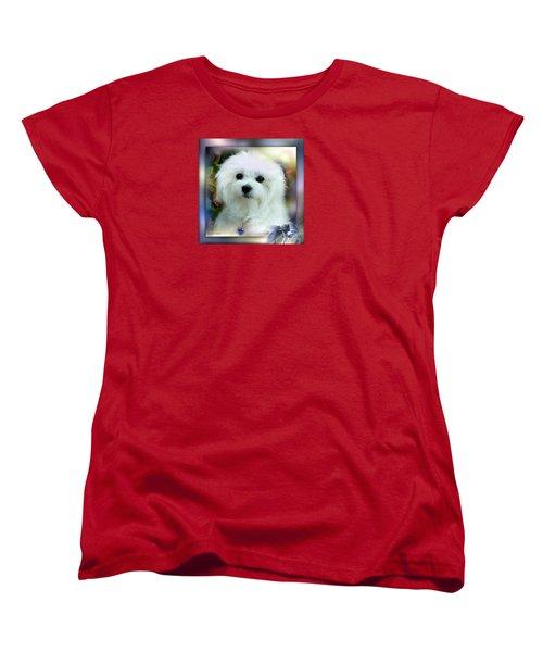 Hermes The Maltese Women's T-Shirt (Standard Cut) by Morag Bates