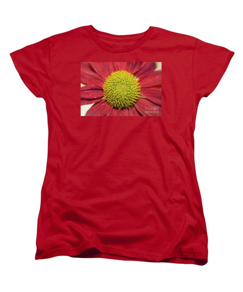 Red Flower Women's T-Shirt (Standard Cut) by Elvira Ladocki