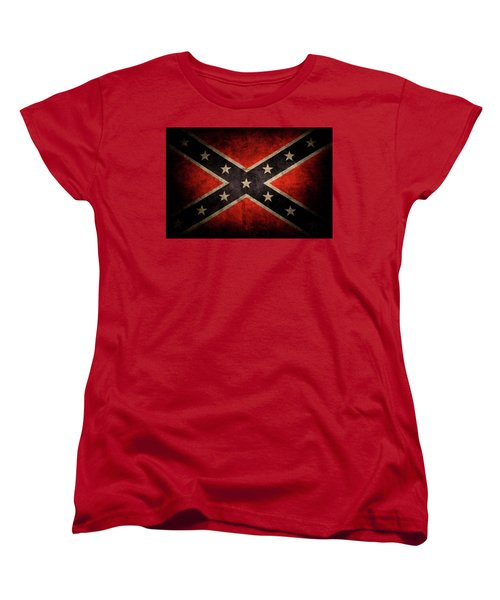 Confederate Flag Women's T-Shirt (Standard Cut) by Les Cunliffe