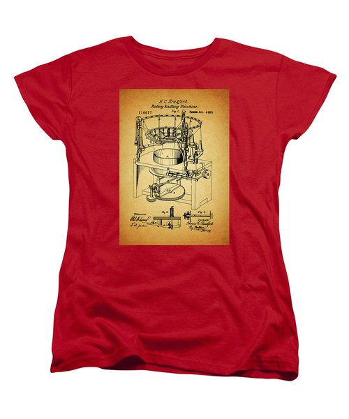 1871 Rotary Knitting Machine Women's T-Shirt (Standard Cut) by Dan Sproul