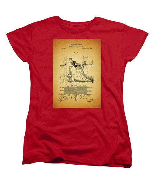 1874 Baby Exercising Corset Women's T-Shirt (Standard Cut) by Dan Sproul