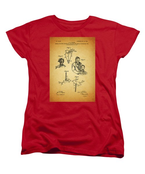 1904 Dental Forceps Patent Women's T-Shirt (Standard Cut) by Dan Sproul