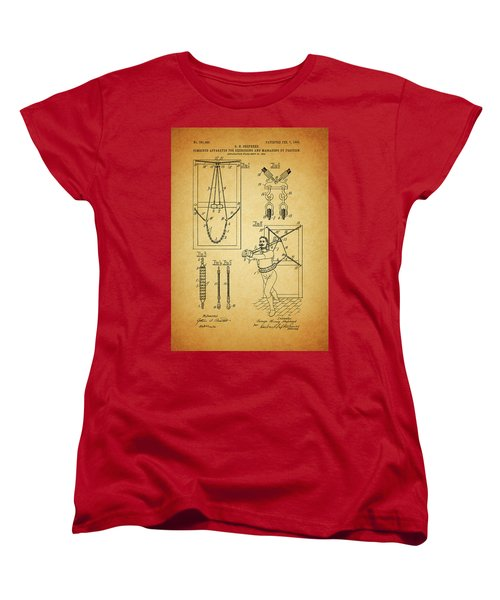 1905 Exercise Apparatus Patent Women's T-Shirt (Standard Cut) by Dan Sproul