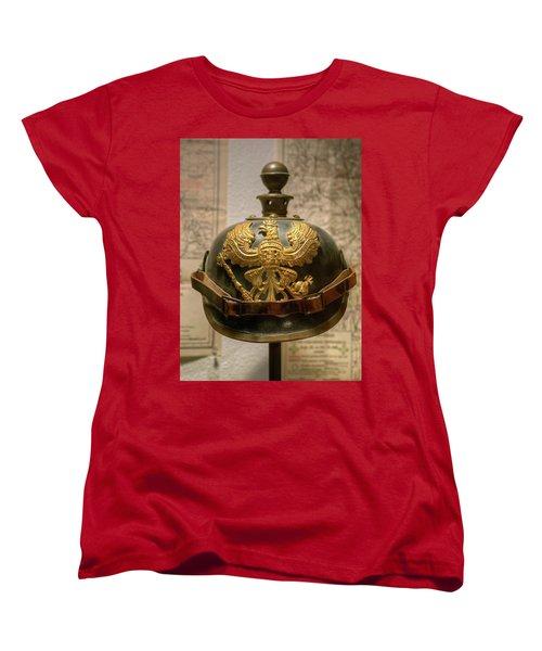 1915 Prussian Artillery Spiked Pickelhaube Helmut Women's T-Shirt (Standard Cut)