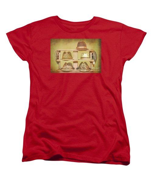 1950s Hats Women's T-Shirt (Standard Cut) by Marion Johnson